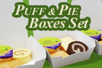 Puff & Pie Boxes Set
